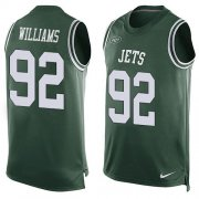 Wholesale Cheap Nike Jets #92 Leonard Williams Green Team Color Men's Stitched NFL Limited Tank Top Jersey