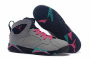 Wholesale Cheap Womens Air Jordan 7 Shoes Cool grey/pink-black
