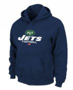 Wholesale Cheap New York Jets Critical Victory Pullover Hoodie Dark Blue