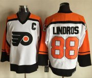 Wholesale Flyers #88 Eric Lindros White/Black CCM Throwback Stitched NHL Jersey