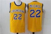 Wholesale Cheap Crenshaw 22 McCall Gold Stitched Movie Jersey