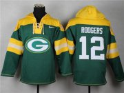 Wholesale Nike Packers #12 Aaron Rodgers Green Player Pullover NFL Hoodie