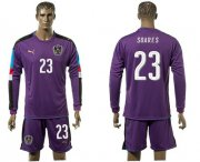 Wholesale Cheap Austria #23 Soares Purple Goalkeeper Long Sleeves Soccer Country Jersey