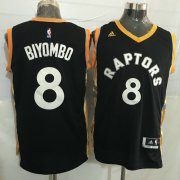 Wholesale Cheap Men's Toronto Raptors #8 Bismack Biyombo Black With Gold New NBA Rev 30 Swingman Jersey