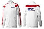 Wholesale Cheap NFL Seattle Seahawks Team Logo Jacket White
