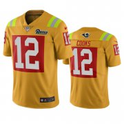 Wholesale Cheap Los Angeles Rams #12 Brandin Cooks Gold Vapor Limited City Edition NFL Jersey