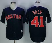 Wholesale Cheap Red Sox #41 Chris Sale Navy Blue New Cool Base Stitched MLB Jersey