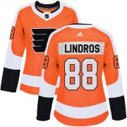 Wholesale Cheap Adidas Flyers #88 Eric Lindros Orange Home Authentic Women's Stitched NHL Jersey