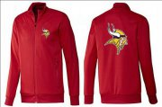 Wholesale Cheap NFL Minnesota Vikings Team Logo Jacket Red