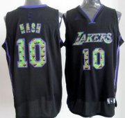 Wholesale Cheap Los Angeles Lakers #10 Steve Nash Black Camo Fashion Jersey