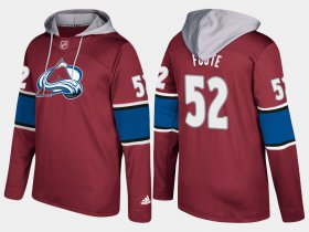 Wholesale Cheap Avalanche #52 Adam Foote Burgundy Name And Number Hoodie