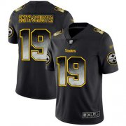 Wholesale Cheap Nike Steelers #19 JuJu Smith-Schuster Black Men's Stitched NFL Vapor Untouchable Limited Smoke Fashion Jersey
