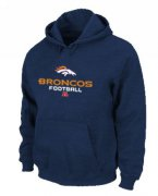 Wholesale Cheap Denver Broncos Critical Victory Pullover Hoodie Dark Blue