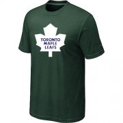 Wholesale Cheap Toronto Maple Leafs Big & Tall Logo Dark Green NHL T-Shirt