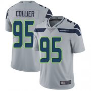Wholesale Cheap Nike Seahawks #95 L.J. Collier Grey Alternate Men's Stitched NFL Vapor Untouchable Limited Jersey