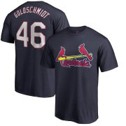 Wholesale Cheap St. Louis Cardinals #46 Paul Goldschmidt Majestic Official Name & Number T-Shirt Navy