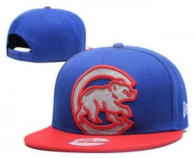 Wholesale Cheap MLB Chicago Cubs Snapback Ajustable Cap Hat GS 1