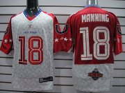 Wholesale Cheap Colts #18 Peyton Manning Red 2010 Pro Bowl Stitched NFL Jersey
