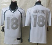 Wholesale Cheap Nike Broncos #18 Peyton Manning White Men's Stitched NFL Limited Platinum Jersey