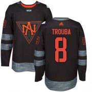Wholesale Cheap Team North America #8 Jacob Trouba Black 2016 World Cup Stitched NHL Jersey