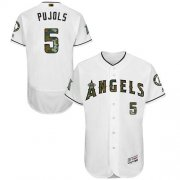 Wholesale Cheap Angels of Anaheim #5 Albert Pujols White Flexbase Authentic Collection Memorial Day Stitched MLB Jersey