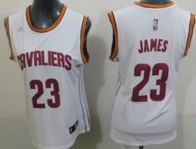 Wholesale Cheap Cleveland Cavaliers #23 LeBron James 2014 New White Womens Jersey