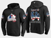 Wholesale Cheap Avalanche #64 Nail Yakupov NHL Banner Wave Usa Flag Black Hoodie