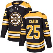 Wholesale Cheap Adidas Bruins #25 Brandon Carlo Black Home Authentic Stanley Cup Final Bound Stitched NHL Jersey