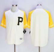 Wholesale Cheap Pirates Blank Cream/Gold Exclusive New Cool Base Stitched MLB Jersey