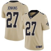 Wholesale Cheap Nike Saints #27 Malcolm Jenkins Gold Youth Stitched NFL Limited Inverted Legend Jersey