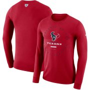 Wholesale Cheap Houston Texans Nike Property Of Sideline Performance Long Sleeve T-Shirt Red