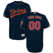 Wholesale Cheap Minnesota Twins Majestic Alternate Authentic Collection Flex Base Custom Jersey Navy