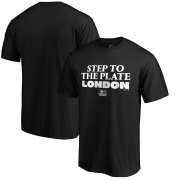 Wholesale Cheap MLB Majestic 2019 London Series Step to the Plate T-Shirt - Black