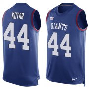 Wholesale Cheap Nike Giants #44 Doug Kotar Royal Blue Team Color Men's Stitched NFL Limited Tank Top Jersey