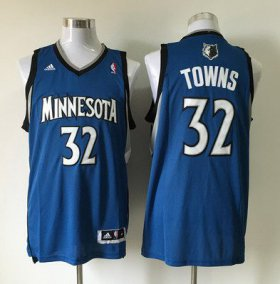 Wholesale Cheap Men\'s Minnesota Timberwolves #32 Karl-Anthony Towns Revolution 30 Swingman Blue Jersey
