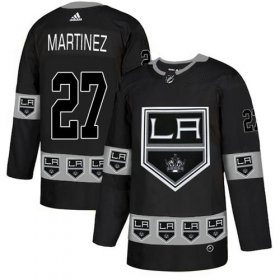 Wholesale Cheap Adidas Kings #27 Alec Martinez Black Authentic Team Logo Fashion Stitched NHL Jersey
