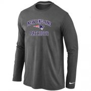 Wholesale Cheap Nike New England Patriots Heart & Soul Long Sleeve T-Shirt Dark Grey