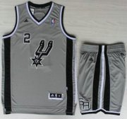 Wholesale Cheap San Antonio Spurs #2 Kawhi Leonard Grey Revolution 30 Swingman NBA Jersey Short Suits