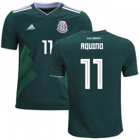 Wholesale Cheap Mexico #11 Aquino Home Kid Soccer Country Jersey
