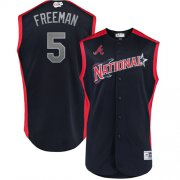 Wholesale Cheap Braves #5 Freddie Freeman Navy 2019 All-Star National League Stitched MLB Jersey