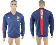 Wholesale Cheap Arsenal Soccer Jackets Blue