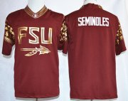 Wholesale Cheap Florida State Seminoles Blank Seminoles Team Pride Fashion Red Jersey