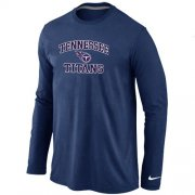 Wholesale Cheap Nike Tennessee Titans Heart & Soul Long Sleeve T-Shirt Dark Blue