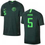 Wholesale Cheap Nigeria #5 Ekong Away Soccer Country Jersey
