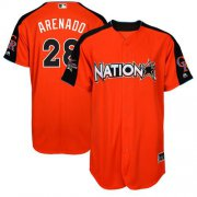 Wholesale Cheap Rockies #28 Nolan Arenado Orange 2017 All-Star National League Stitched Youth MLB Jersey