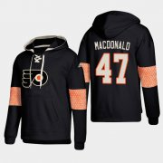 Wholesale Cheap Philadelphia Flyers #47 Andrew MacDonald Black adidas Lace-Up Pullover Hoodie