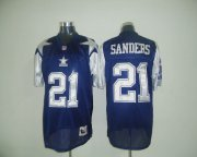 Wholesale Cheap Mitchell & Ness Cowboys #21 Deion Sanders Blue Stitched Throwback NFL Jersey