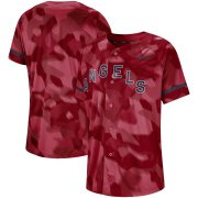 Wholesale Cheap Los Angeles Angels Nike Camo Jersey Red