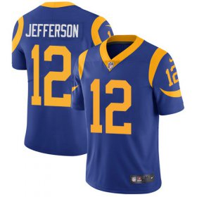 Wholesale Cheap Nike Rams #12 Van Jefferson Royal Blue Alternate Men\'s Stitched NFL Vapor Untouchable Limited Jersey