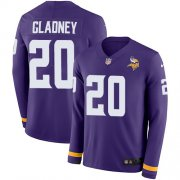 Wholesale Cheap Nike Vikings #20 Jeff Gladney Purple Team Color Men's Stitched NFL Limited Therma Long Sleeve Jersey